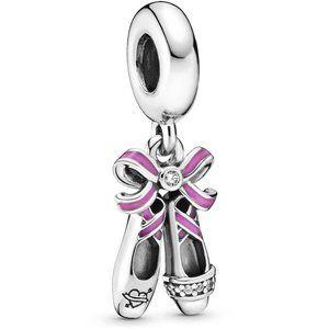 Pandora Punk Ballerina Shoes Dangle Charm